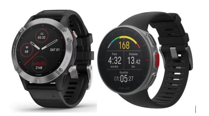 Smartpwatches per lo sports: Garmin fēnix 6 e Polar Vantage V in confronto (Foto: Garmin, Polar)
