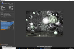 Cinebench R15 con la batteria