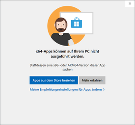 Apps 64-bit non supportate