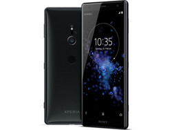 Il Sony Xperia XZ2, fornito da Sony Germany.