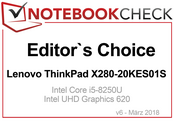 Editor's Choice Award Marzo 2018: Lenovo ThinkPad X280