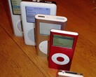 Discontinued iPod models: iPod Video, iPod 4th Generation, iPod Mini, iPod Nano, iPod Shuffle (Source: Chris Harrison)