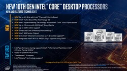 Intel Core i9-10900K: nuove features (fonte: Intel)