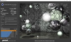 Cinebench R15 con a batteria