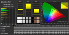 CalMAN: ColorChecker - calibrato