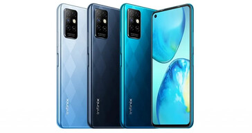 The Infinix Note 8 series also has modern, eye-catching rear panels. (Source: Infinix)