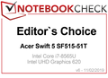 Editor's Choice Award February 2019: Acer Swift 5 SF515-51T-76B6
