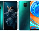 Rivals like the Honor 20 Pro and Redmi Note 9 Pro could soon be stablemates. (Image source: Honor/Xiaomi - edited)