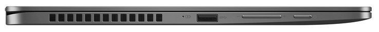 Lato Sinistro: USB 3.1 Gen 1 (Type A), volume, accensione