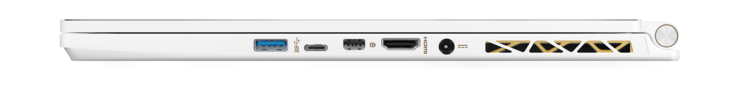 Destra: USB 3.1, Thunderbolt 3, Mini-DisplayPort, HDMI, alimentazione