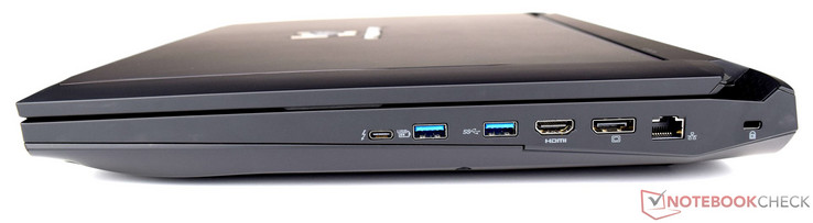 Right side: 2x USB-C 3.1, 2x USB 3.0, HDMI, DisplayPort, Ethernet, Kensington Lock