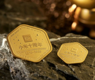 Xiaomi gold coins.(Image source: YouPin)