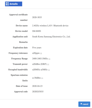 I dispositivi Samsung avvistati nel database MIIT (Source: MIIT via MySmartPrice)