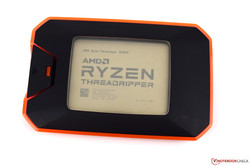La CPU Desktop AMD Ryzen Threadripper 2970WX. Dispositivo di test cortesemepnte fornito da AMD.