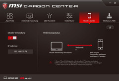 MSI Dragon Center, Mobile Center