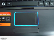 Touchpad con supporto luminoso