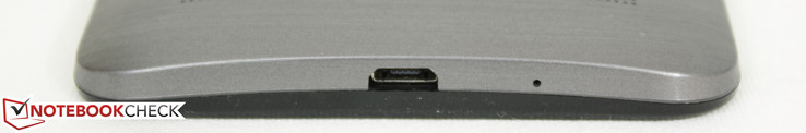 Bottom: Micro-USB 2.0 port, Microphone