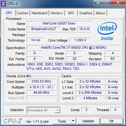 "Intel Core i7 5600U ""Broadwell"""
