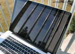 Utilizzo all'aperto: MBP 15 con display lucido