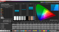 CalMAN ColorChecker prima della calibration