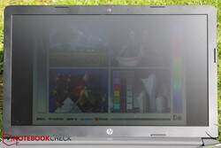 Using the HP 250 G7 outside under direct sunlight
