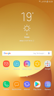 Samsung Galaxy J7 (2017): homescreen